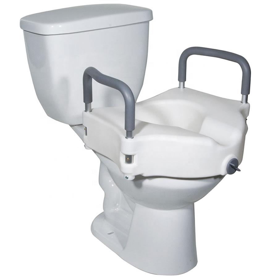 raised toilet seat with handles