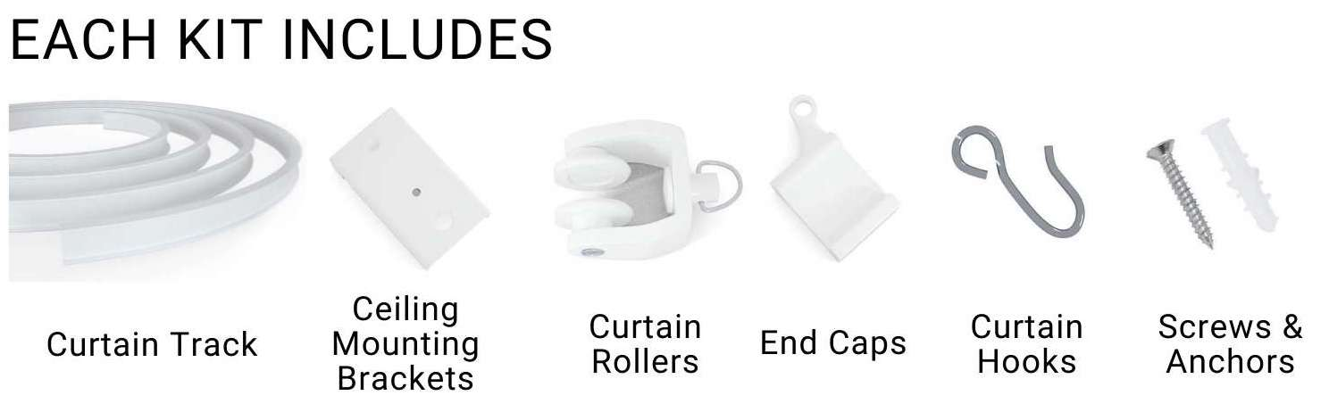 buy curved curtain tracking system